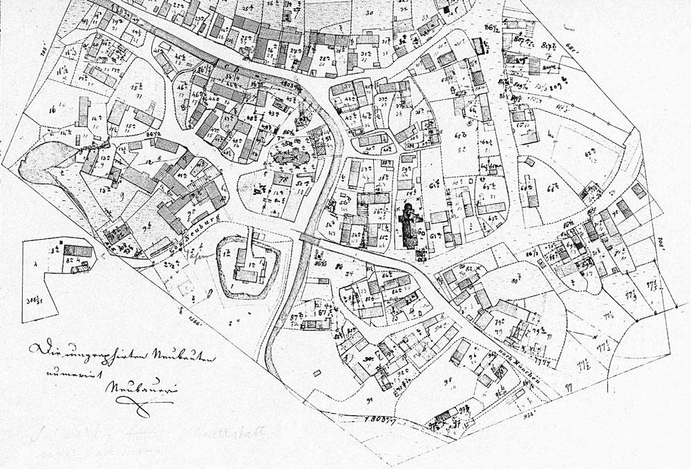 historische karte pfarrhof